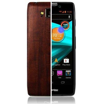 Skinomi Phone Skin Dark Wood+Screen Protector for Motorola Droid RAZR MAXX (Razr Phone Skin)