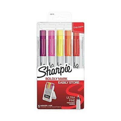 Sharpie Permanent Markers In Storage Case Ultra Fine Point 5pk Dynamic Colors