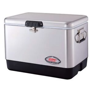 COLEMAN 54qt Steel Belted Cooler Stainless steel - BRAND NEW