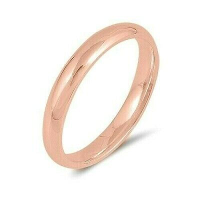 Toe Ring Genuine Sterling Silver 925 Rose Gold Plated 3 MM Selectable