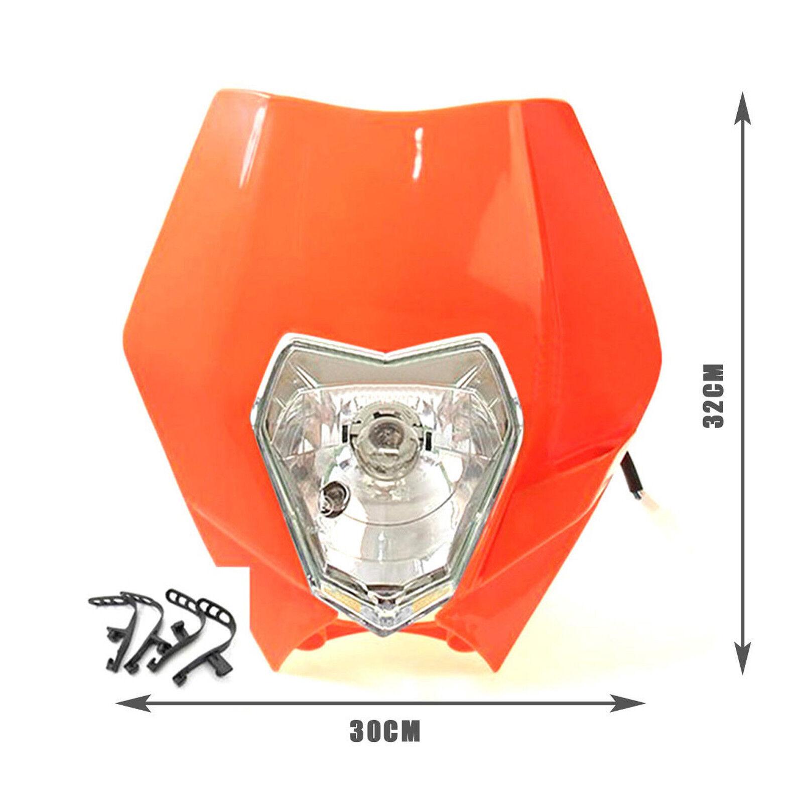 Dirt Bike Racing S2 Headlight Fairing For Honda Yamaha SX XCF XCW Headlamp | eBay