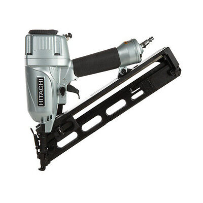 """Hitachi 15-Gauge 2-1/2"""" Angled Finish Nailer Kit NT65MA4R Reconditioned"""
