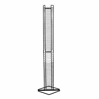 CD Tower Wall Mount Stand Steel CD Holder Movie Video Game Storage Display Rack