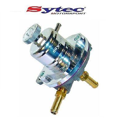 SYTEC 1:1 SAR ADUSTABLE 1-5 BAR FUEL PRESSURE REGULATOR (SILVER) 8mm PUSH TAILS