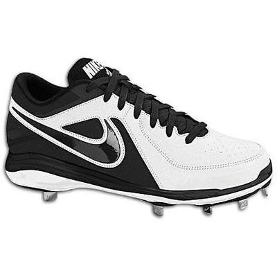 buy online 43850 8de06  80 NIKE AIR MVP PRO Mens Low Baseball Metal Cleats 524641-100 BLACK WHITE  Sz 14