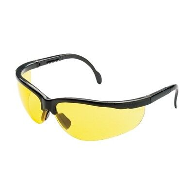 12 Pair Pack Protective Safety Glasses Yellow Amber Lens Adjustable Night