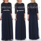 Fleece 3/4 Sleeve Maxi Maternity Dresses
