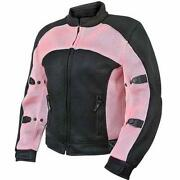 Womens Pink Motorcycle Jacket