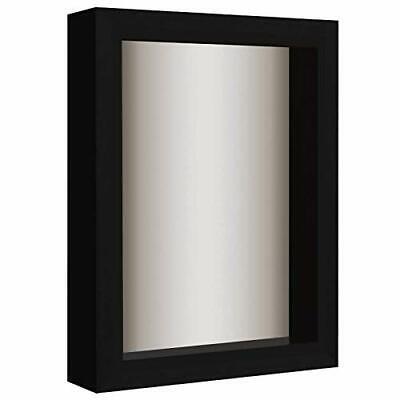 11x11 inch Shadow Box Frame Soft Linen Back Mahogany Home Décor Memorabilia Pins