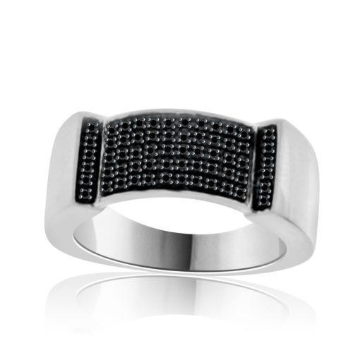 Mens Black Diamond Wedding Ring