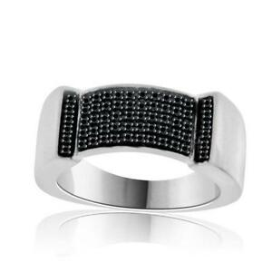 mens black diamond wedding ring - Mens Black Diamond Wedding Rings