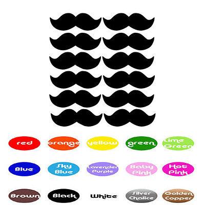 Super Mario Luigi Mustache Decal Stick Envelope Cup Party Baby Showers Birthday](Luigi Moustache)
