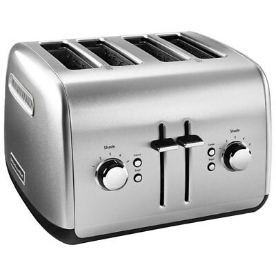 KitchenAid 4 Slice Wide Slot Toaster Bagel Removable Crumb Tray Pick Color