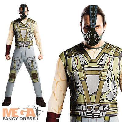 Bane Batman Fancy Dress Super Villian Dark Knight Rises Halloween Costume + Mask](Bane Dark Knight Rises Costume Halloween)