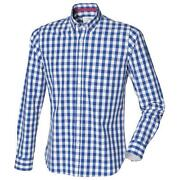 Blue and White Check Shirt