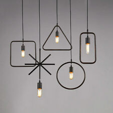 Retro LOFT Chandeliers Industrial Hanging Ceiling Light Pendant Geometric Lamp