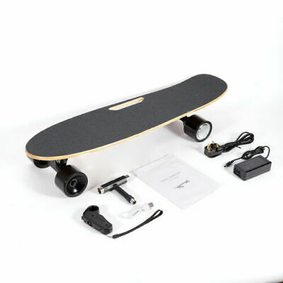 Electric Skateboard Longboard Maple Deck 20km/h Remote Control 2.4Ghz UK