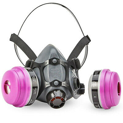 North 5500 Series Half Face Respirator 5500-30m W 1 Pr. 7581p1oo Size Medium