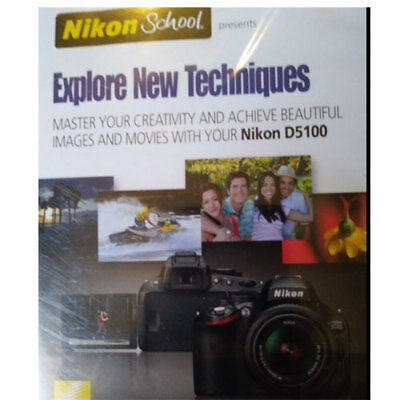 NIKON SCHOOL EXPLORE NEW TECHNIQUES For NIKON D5100 Camera Learn to use DSLR  for sale  Shipping to India
