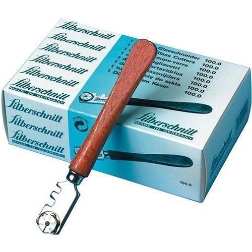 Glasschneider Silberschnitt Schneidenwinkel 130 ° für 3 - 10 mm Glasstärke,