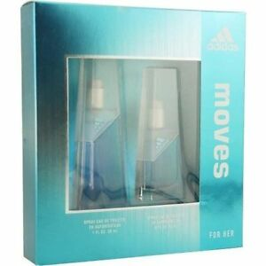 Adidas Moves for Her Gift Set -1.0 Fl. Oz EDT + .5 Oz. EDT Spray)