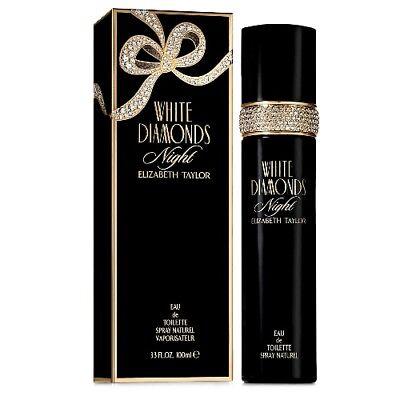 White Diamonds Night By Elizabeth Taylor 3 3   3 4 Oz Edt Perfume For Women Nib