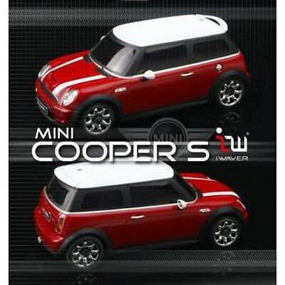 Iwaver 1:28 02M Mini Cooper S Roja On-Road Coche Eléctrico Brushed 2WD...