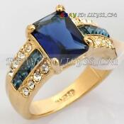18K Gold Plated Swarovski Crystal Ring