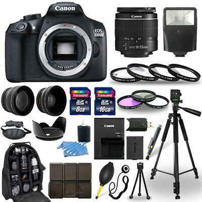 Canon Eos 1300D   Rebel T6 Dslr Camera   18 55Mm Lens  30 Piece Accessory Bundle