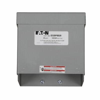 New Eaton Egspib20 20a Power Inlet Box 120240v Nema L14-20 Plus 25ft Cable