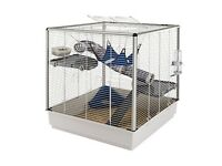 Large pet cage cost £95 from Pets at Home about 3' x 2' x 2'