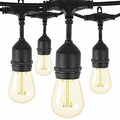 Remon Led Outdoor String Lights 48 Feet Hanging Lights Dimmable Waterproof St...