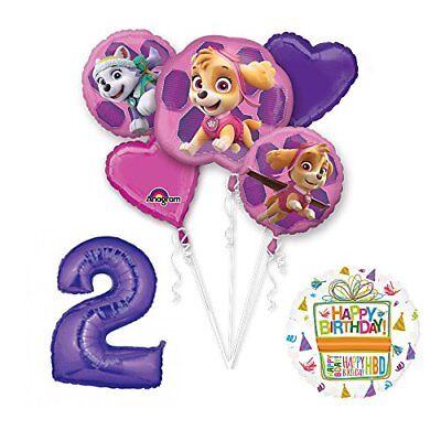 PAW PATROL SKYE & EVEREST 2nd Birthday Party Balloons Suppli