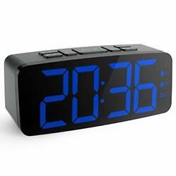Electric LED Digital Dual Alarm Clock FM Radio Only Large Display Battery Backup