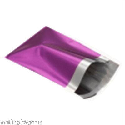 25 Metallic Foil Purple Mailing Postage Postal Bags 4.7