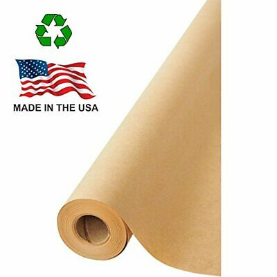 Made In Usa Brown Kraft Paper Jumbo Roll 17.75 X 1200 100ft Ideal For Gi