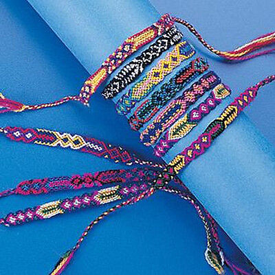 12x Woven FRIENDSHIP BRACELETS New!  - US Seller - Assorted Wholesale Bulk Lot!