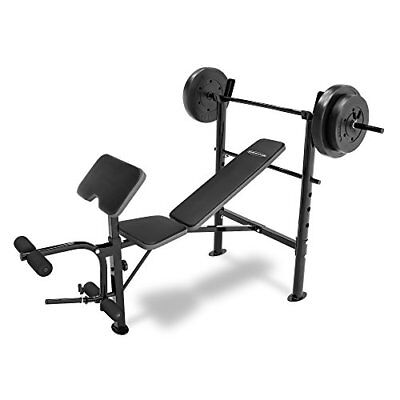 Competitor Marcy Workout Bench with 80 lbs weight Set Combo