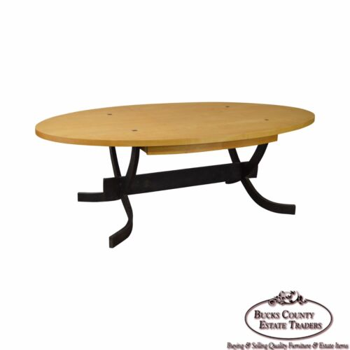 Rob Hare Studio Crafted Steel Base Essex Elliptical Dining Table