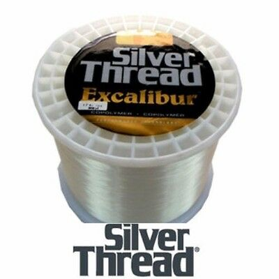 SILVER THREAD EXCALIBUR CLEAR FISHING LINE BULK SPOOL (3000 YDS) - 4 LB (4lb Spool)