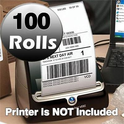 100 Rolls 220/Roll 4x6 Thermal Shipping Labels Dymo 4XL Compatible 1744907 - $399.99