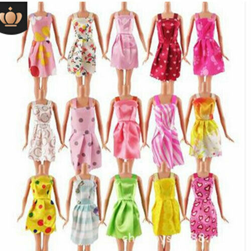 10 Pcs Dresses for Barbie Doll Fashion Party Girl Dresses Clothes Gown Toy Gift. - 2