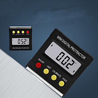 Cube Digital Lcd Gauge Electronic Level Magnetic Angle Finder Inclinometer Meter