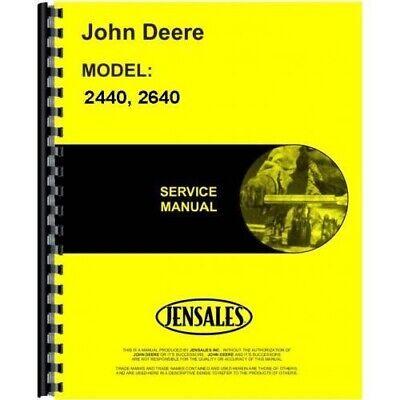 John Deere 2440 2640 Tractor Service Repair Shop Manual Tm1142
