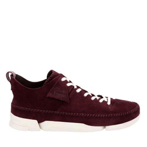 Clarks Originals Trigenic Flex Men's Burgundy Suede Casual Shoes  26122569 1