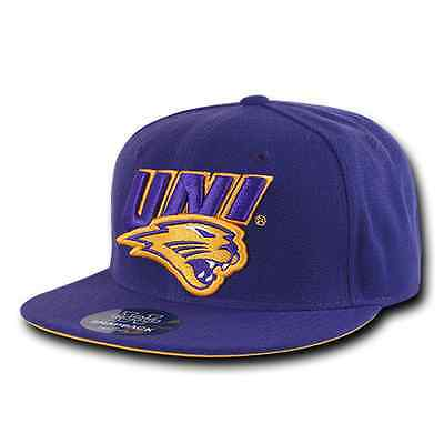 Northern Iowa University UNI Panthers NCAA Fitted Flat Bill Baseball Cap Hat Uni Fitted Cap