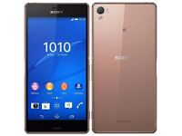 Sony XPERIA Z3, 16GB 4G LTE Water Proof,Unlocked, colour Copper , Excellent condition