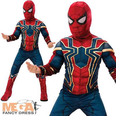 Deluxe Iron Spider Boys Fancy Dress Avengers Superhero - Spider Man Avengers Kostüm