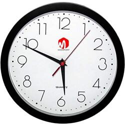 Magnificent Wall Clock, Silent Non Ticking Quality Quartz Battery Operated 10