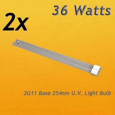 Two 36W UV Replacement Bulb 2G11 Base 4Pin 36 Watt for Jebao PU36 UV Clarifier